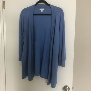 Blue Charter Club cardigan size 2x